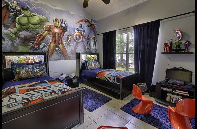 Marvel Themed Room Entrancing Magicalclubhouse Themed Disney Vacation Pool Home In Orlando Decorating Design